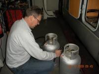 LPG dampgasflessen