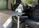 VW California Coast folding interior table.