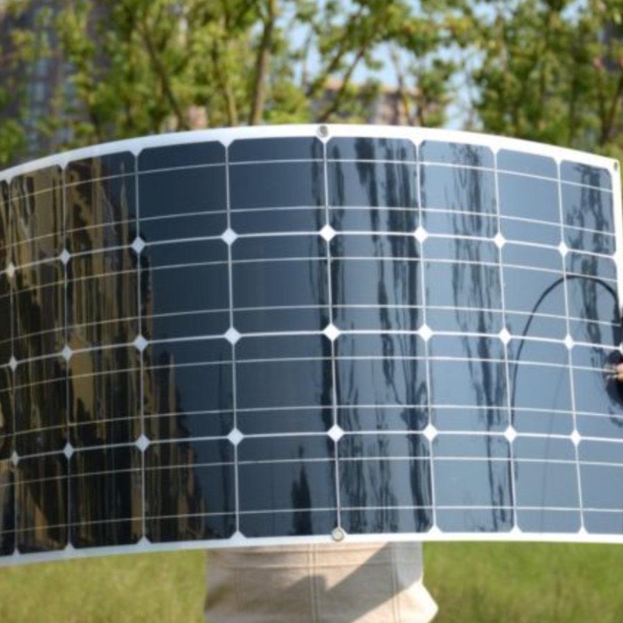 Motorhome campervan solar panel.