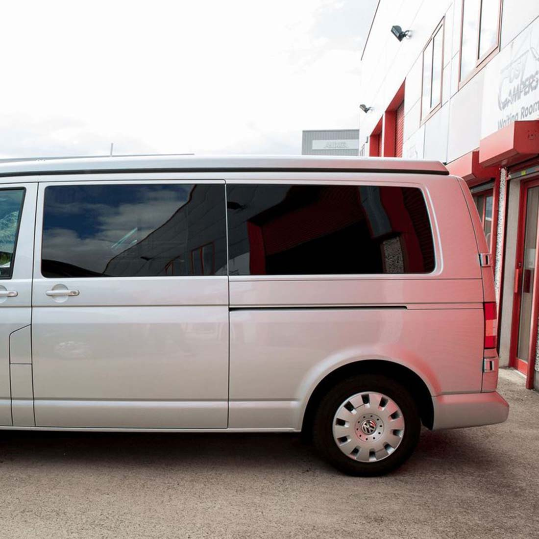 VW T5 & T6 left rear tinted glass installed.