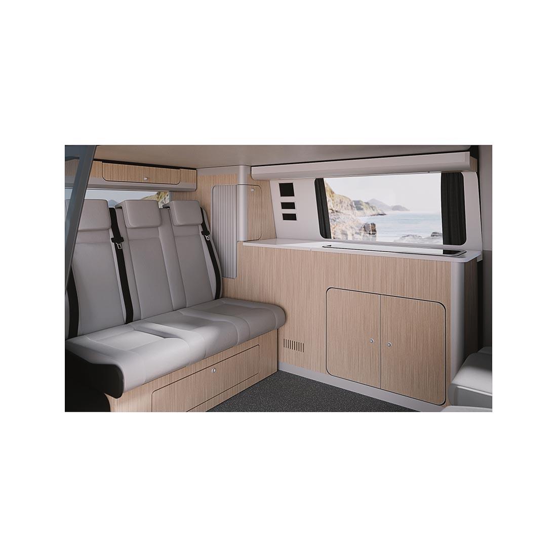 installed vw complete vw camper conversion furniture kit.