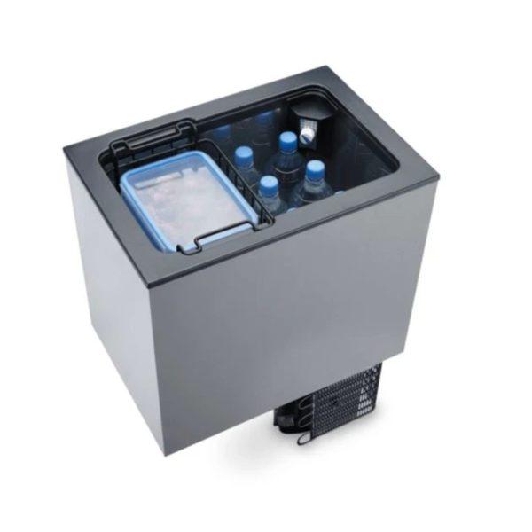 Dometic campervan refrigerator cooler top loading.