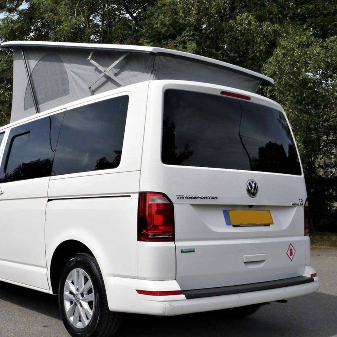 VW T6 rear window tinted glass installed.