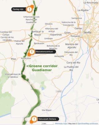 Overzichtskaart stroomgebied Guadiamar