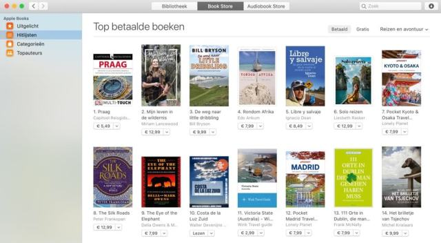 Onze e-reisgidsen scoren goed. Hier zie je de Apple-boekenlijst van best verkochte reisboeken met op plaats 10 'Costa de la Luz Zuid'. (e-book)