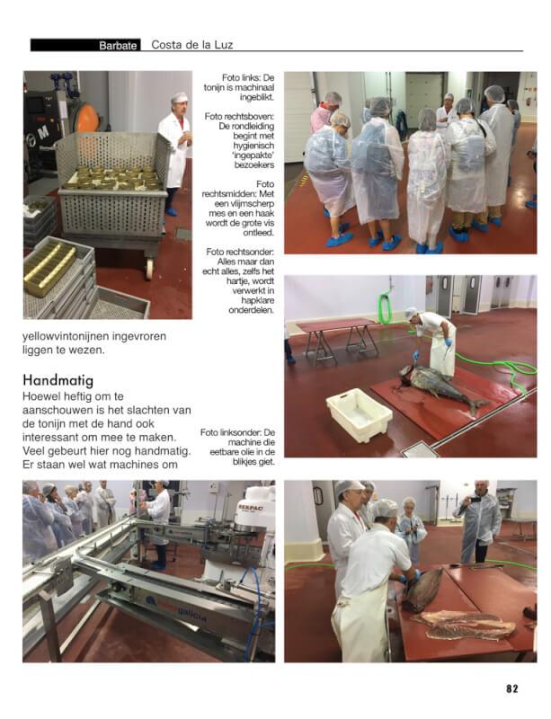 We bezochten 'goed verpakt' de tonijnfabriek in Barbate.