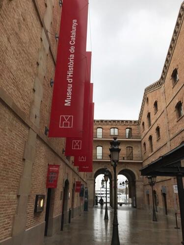 Het historische museum van Catalonië. (Barcelona).