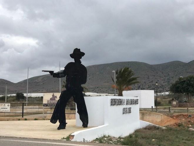 Het dorpje Los Albaricoques, waar veel westernfilms zijn opgenomen.