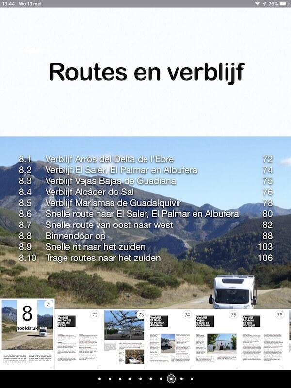 Voorbeelden Rijst-routegids (Voorlopig ontwerp).