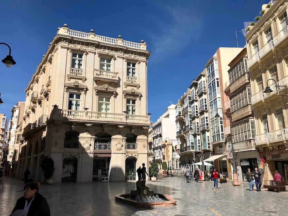 Calle Carmen met Palacio Pedreño