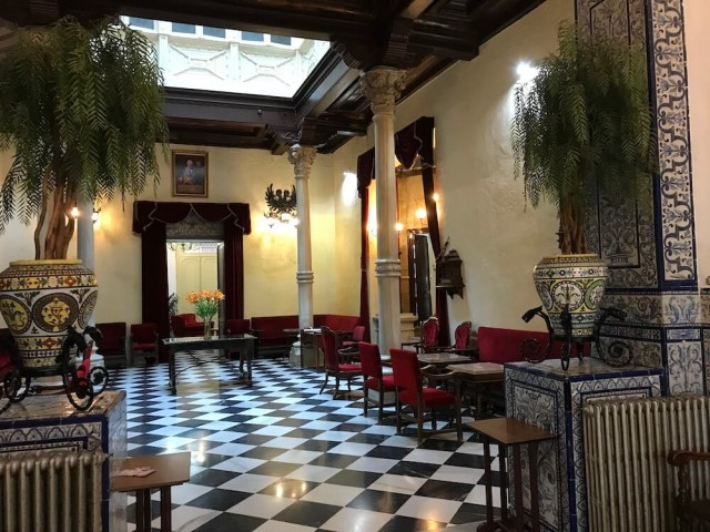 Het interieur van Casino Cartagena.