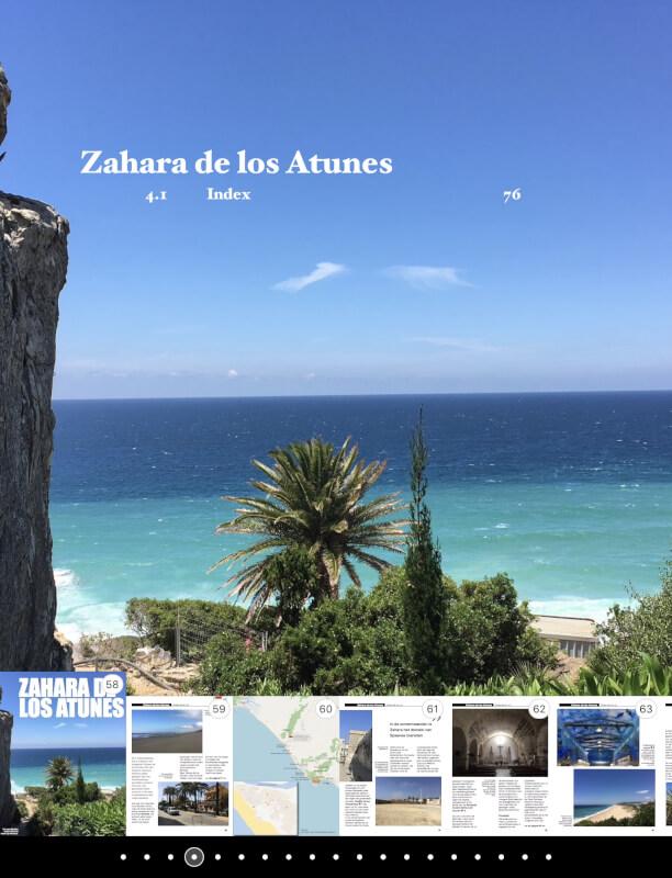 De overzichtspagina van het hoofdstuk over Zahara de los Atunes.