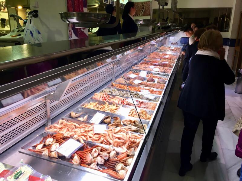 Als je van garnalen en allerlei soorten kreeft en krab houdt, is Romerijo in El Puerto de Santa María dé plek. (Costa de la Luz Zuid)