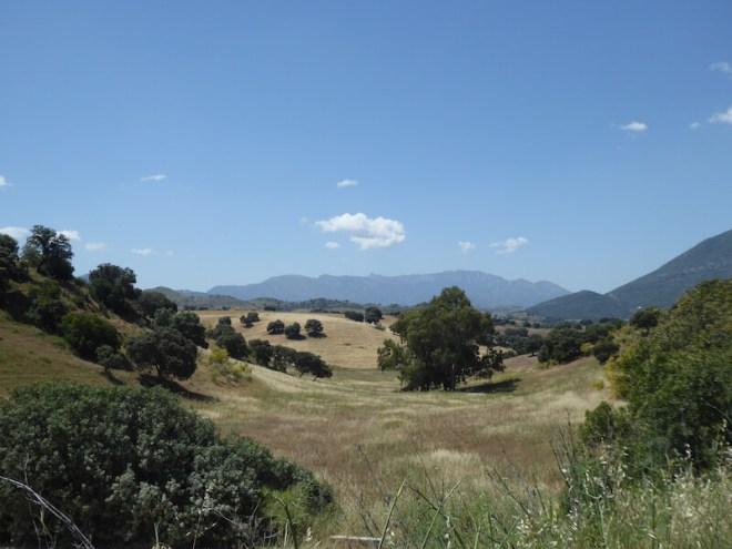 De landschappen die je ziet vanaf de Via Verde.