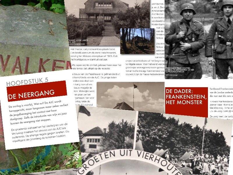 Een paginacollage van het e-book over de Paasheuvel