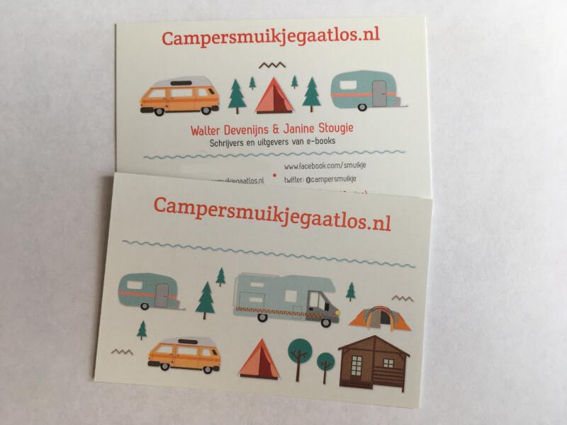 De visitekaartjes van Smuikje.