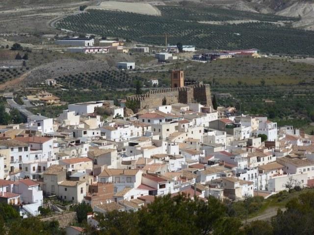 Serón, gezien vanaf de Sierra de los Filabres.