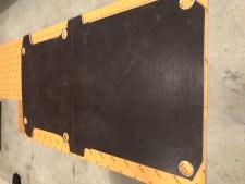 Bodenplatte als Schablone für die Boden Entkopplungsmatten