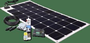 Solarset mit Sunpower 110W Felx Modul und Votronic MPPT Regler