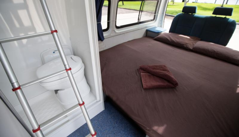 Paradise 5 Seat Campervan with Shower  Toilet for hire