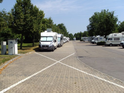 A Typical French Motorhome Aire de Services