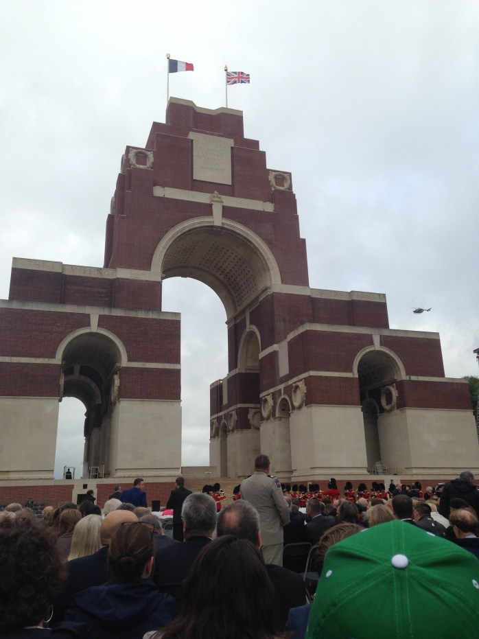 Our Attendance at the Thiepval Memorial, 100th Anniversary of the Battle of The Somme