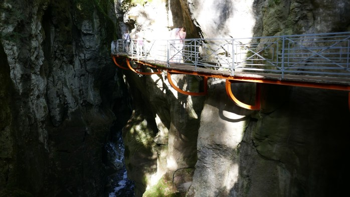 Gorges du Fier calais to Italy in a campervan