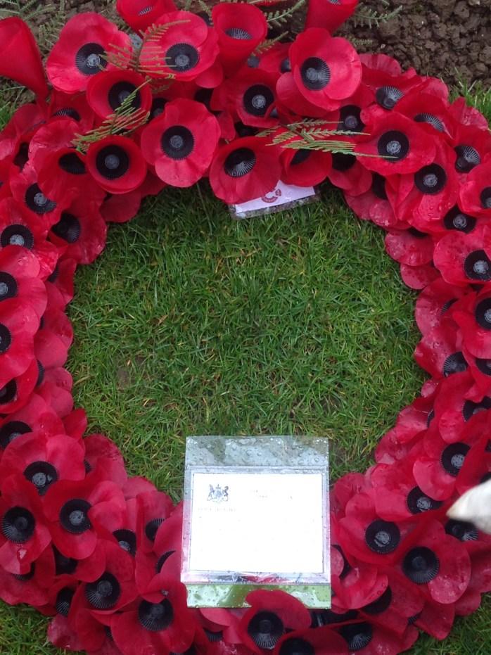 Poppy Wreath Centenary service Thiepval