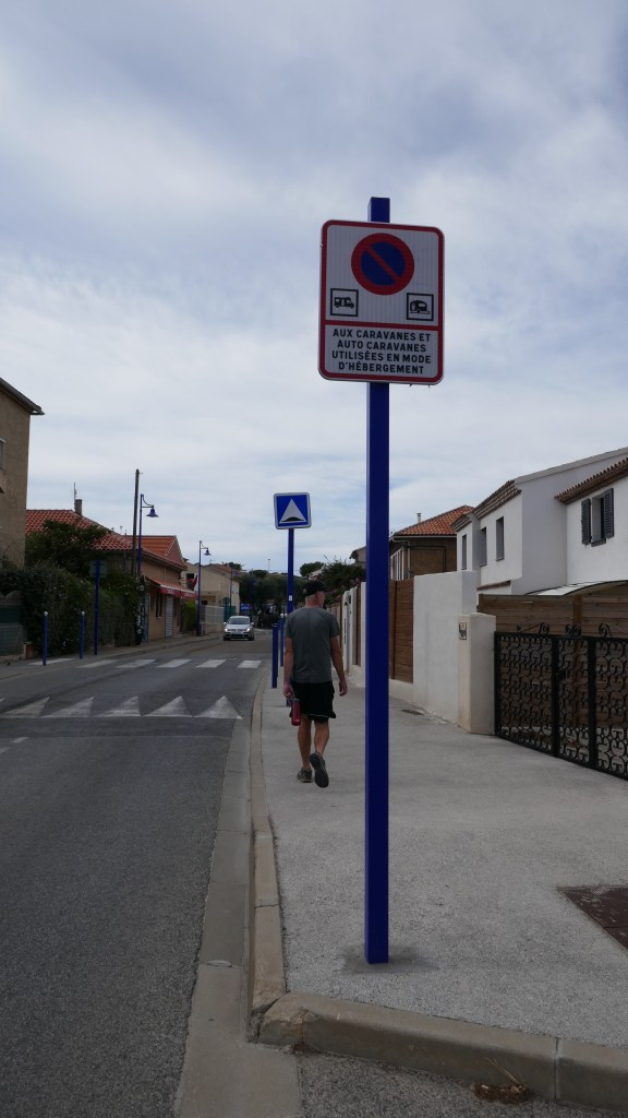 No motorhome sign France