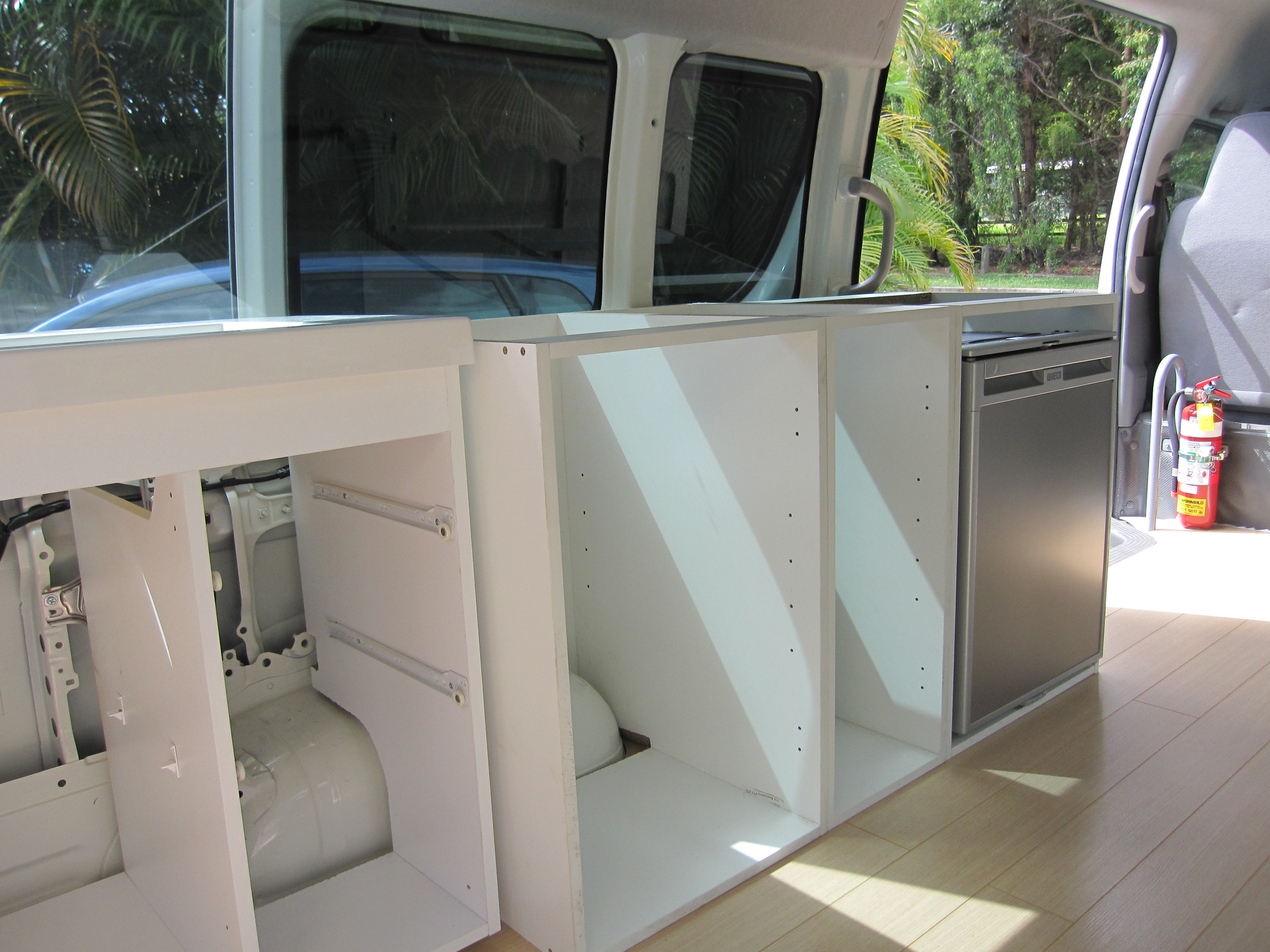 Campervan Kitchen In Go The Cabinets The Campervan Converts