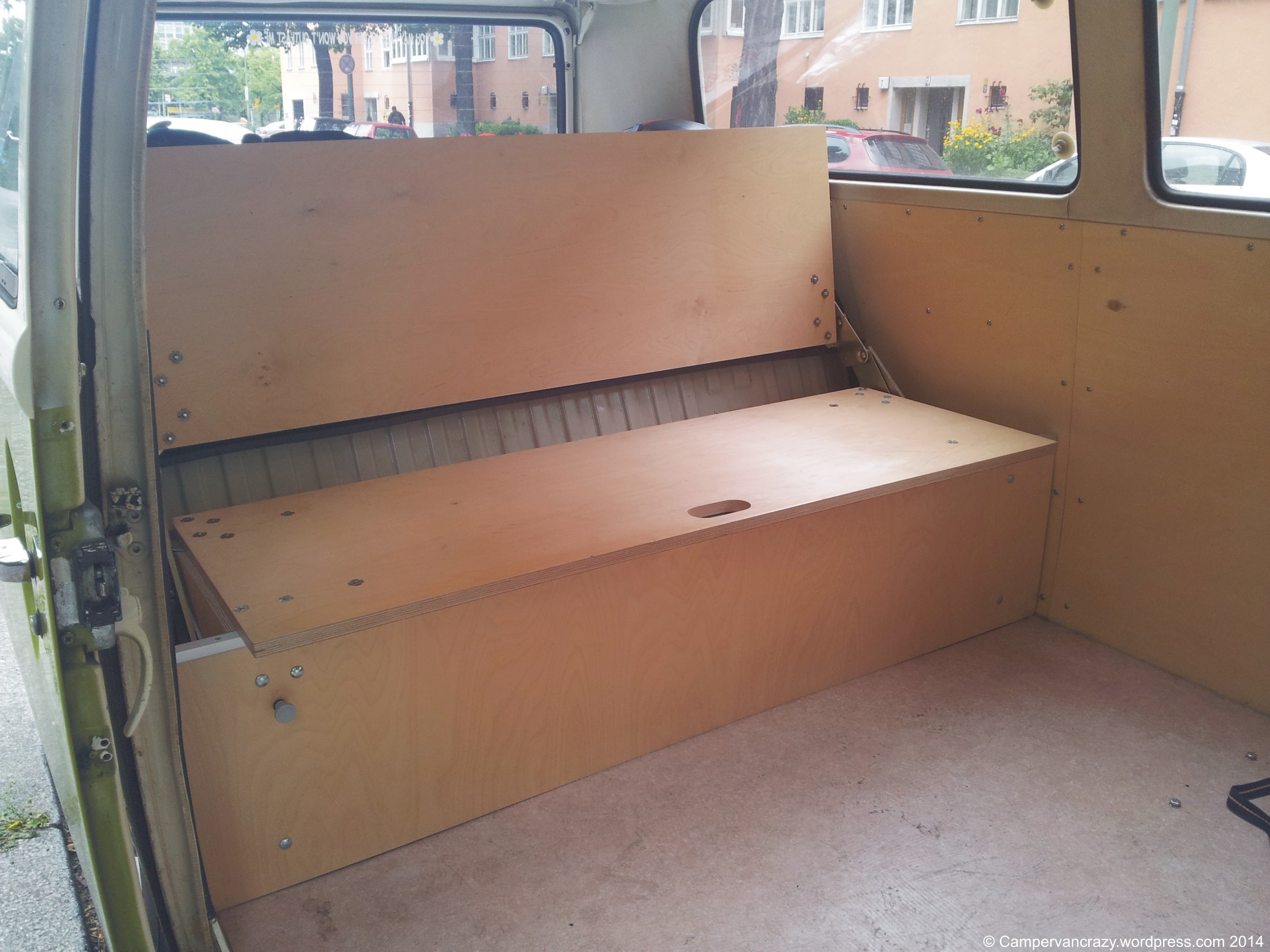 van sofa bed seat sleeper twin mattress bench combination campervan crazy