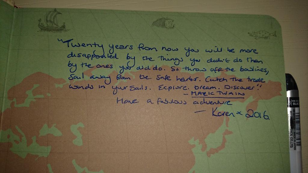 Very apt quote - thanks Karen Venn!