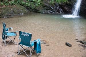 コールマンの椅子・滝