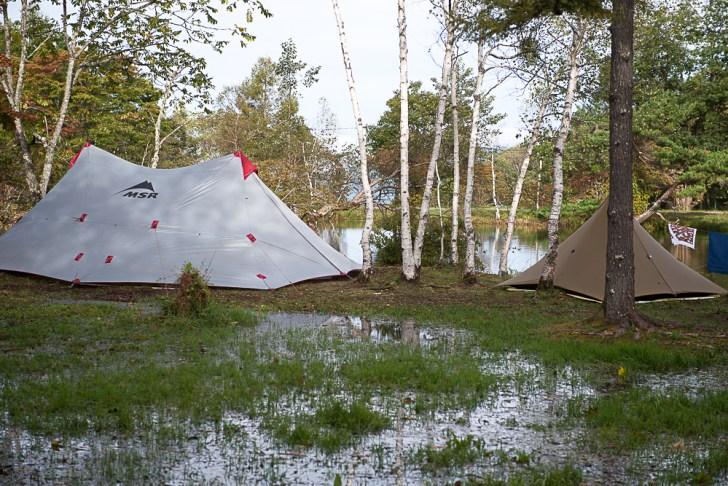 2号サイト-駒出池キャンプ場