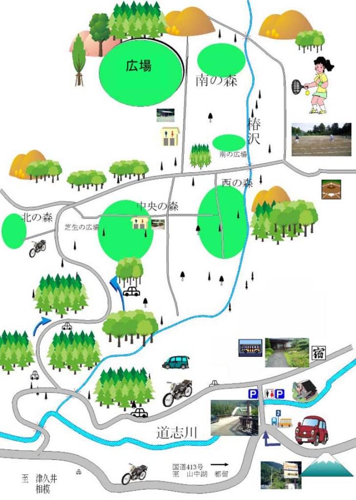 椿荘オートキャンプ場マップ