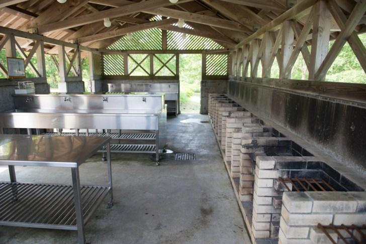 野反湖炊事場