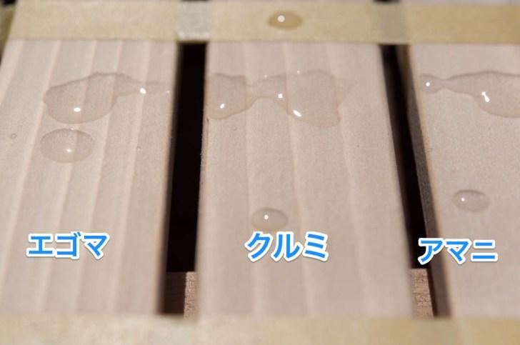 蜜蝋ワックス塗った後の耐水性