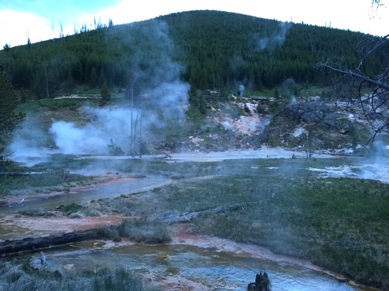 Yellowstone National Park - Artists Paint Pots and Gesyers - Campfire Chic