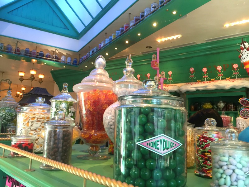 Honeydukes in Wizarding World at Universal Studios Hollywood - Kam of Campfire Chic