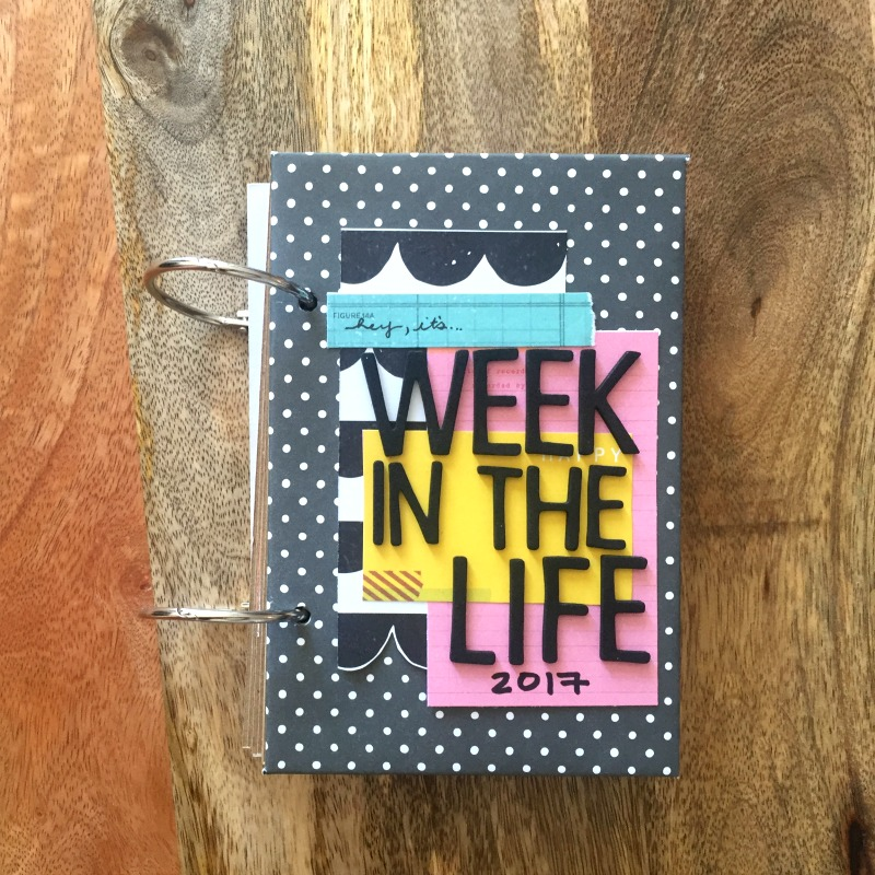 Week in the Life Scrapbook Mini Album - Kam of Campfire Chic