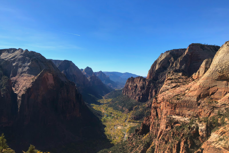View from Angels Landing Zion National Park Utah - Kam of Campfire Chic
