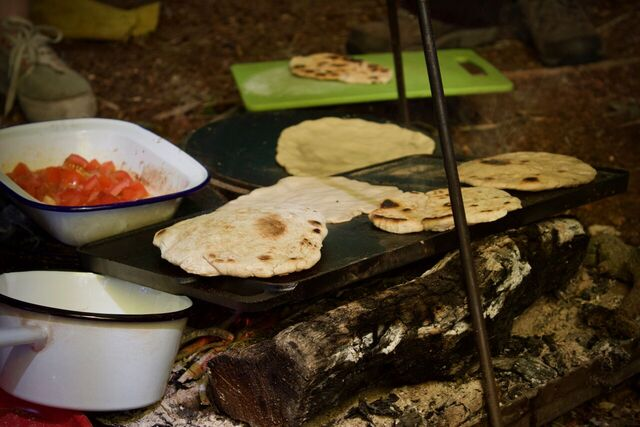 Dutch Oven Lid Flat Breads