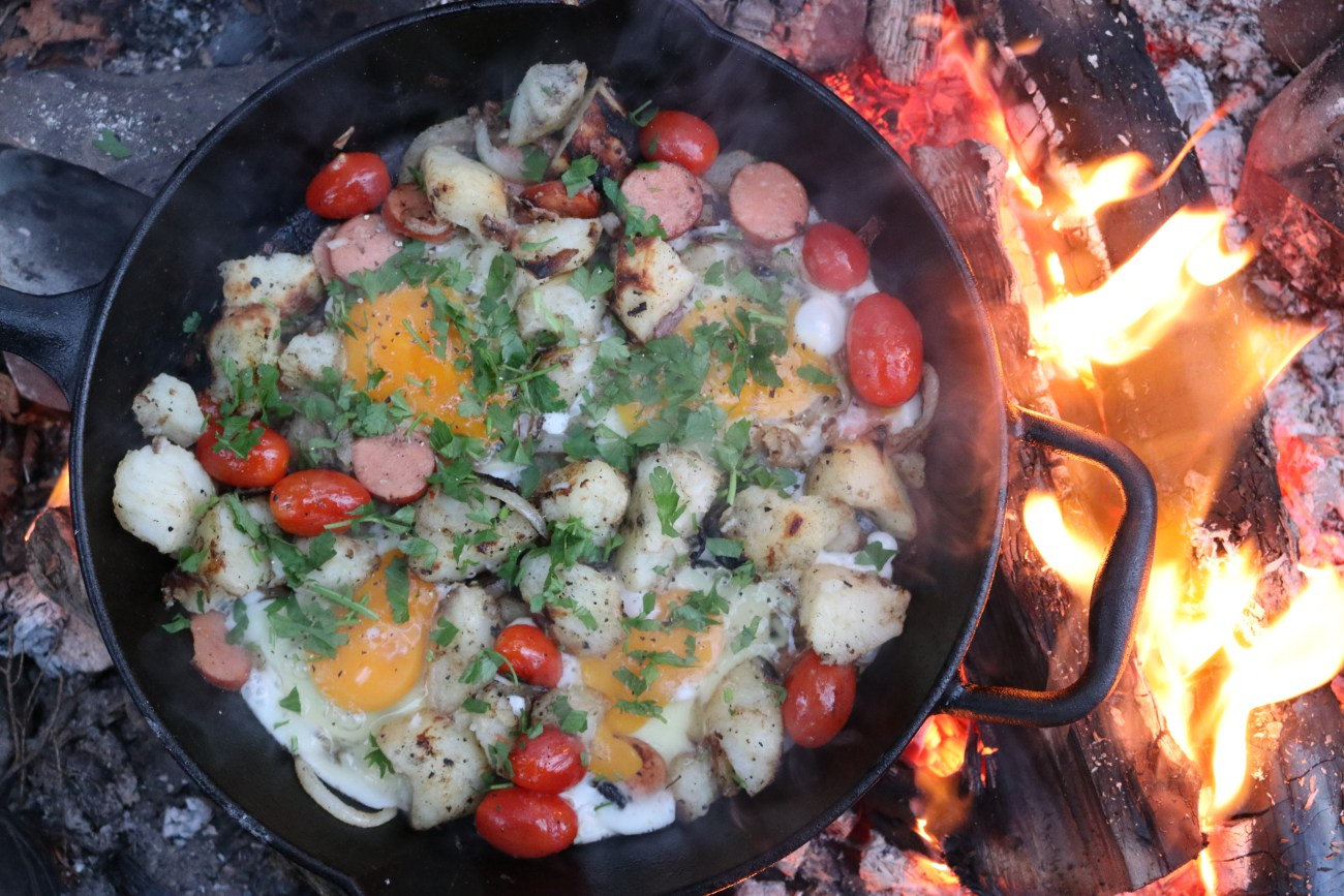 Reenergising Sausage, Potato and Egg Breakfast Skillet