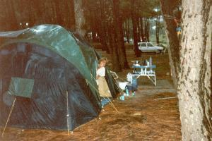 Penny's tent in 1977