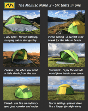 benefits of mollusc tent
