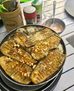 Griddled aubergine steak