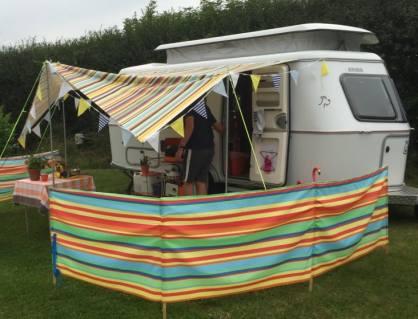Field Barn Park campsite caravan