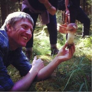 Jesper Launder mushroom forage
