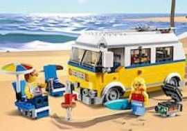 We like the new sunshine surfer campervan Lego set at around £17. A camper that converts into a lifeguard tower with beach buggy.