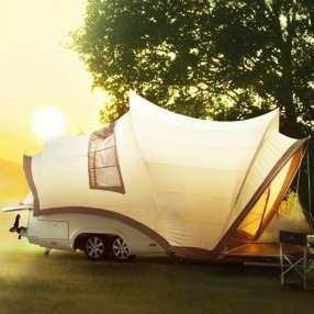 Opera trailer tent